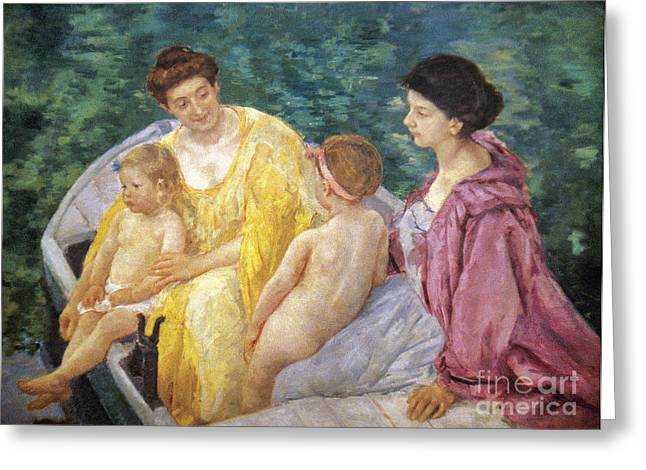 Cassatt Greeting Cards - Cassatt: The Swim, 1910 Greeting Card by Granger