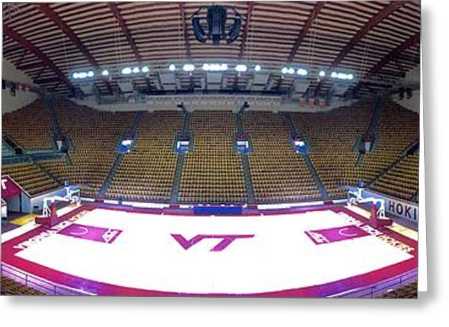 Hokies Greeting Cards - Cassell Panorama Greeting Card by Andrew Webb
