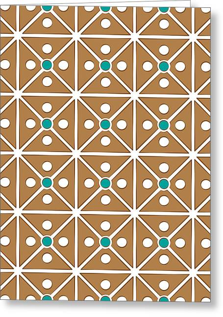 Cassette Brown Abstract Pattern Greeting Card by Jozef Jankola