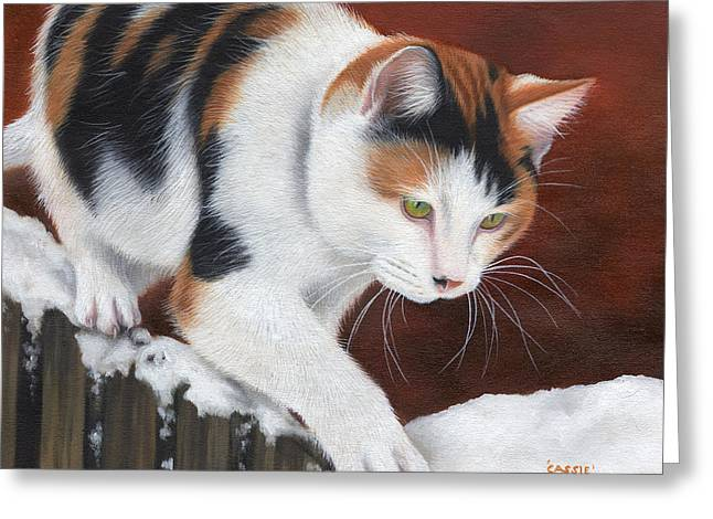 Small Cats Greeting Cards - Cassie Greeting Card by Sarah Stribbling