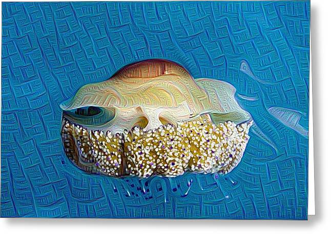 Invertebrates Greeting Cards - Cassiopeia Jellyfish Abstract Greeting Card by Roy Pedersen