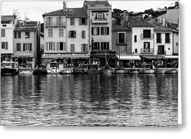 South Of France Greeting Cards - Cassis - French Seaside Town - Square Greeting Card by Georgia Fowler