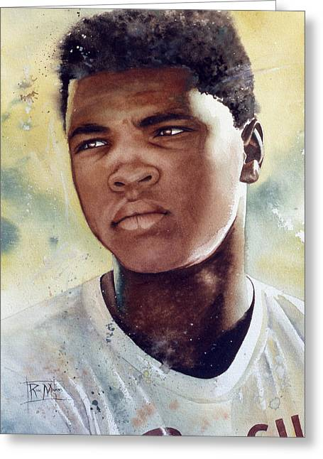 Boxing Greeting Cards - Cassius Clay Greeting Card by Rich Marks