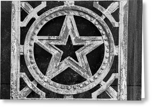 Marxism Greeting Cards - Cast Iron Russian Star Decoration  Greeting Card by John Williams
