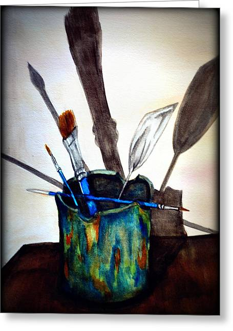Pallet Knife Greeting Cards - Cast Shadows Greeting Card by Colene Milligan