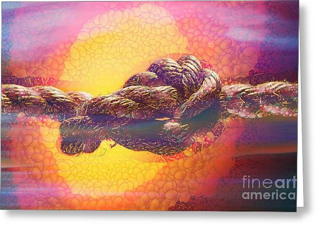 Print On Canvas Greeting Cards - Castaway In The Mix Greeting Card by Catherine Lott