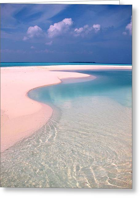 Azur Greeting Cards - Castaway Island Maldives 46 Greeting Card by Per Lidvall