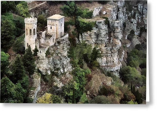 Erice Greeting Cards - Castello di Venere Greeting Card by Joe Bonita