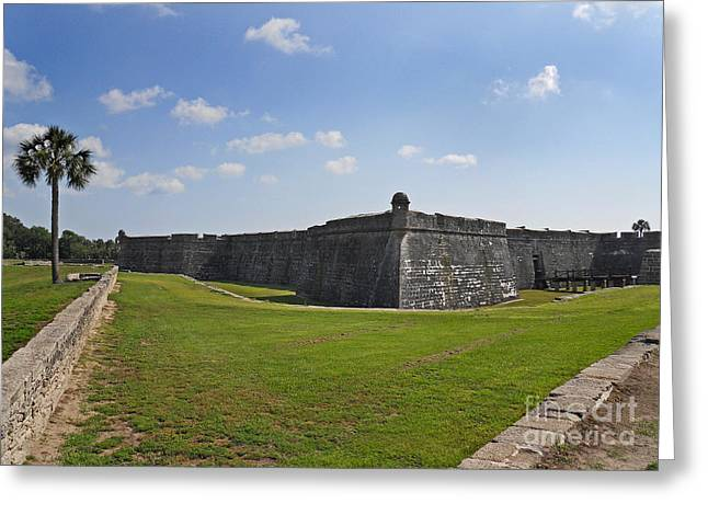 Covered Bridge Greeting Cards - Castillo De San Marcos Greeting Card by Skip Willits