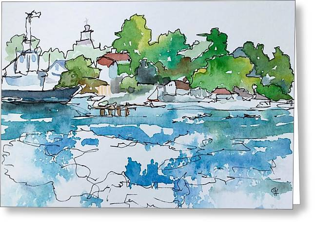 Castine Greeting Card by Gayle Hurley