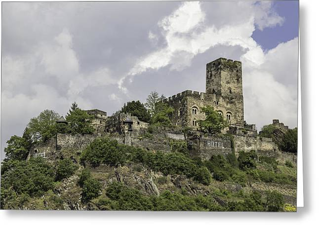 Castle And Hotel Greeting Card by Teresa Mucha