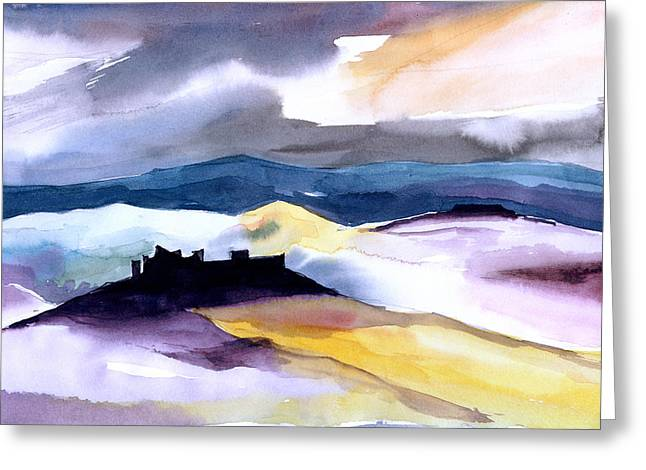 Anil Nene Greeting Cards - Castle Greeting Card by Anil Nene