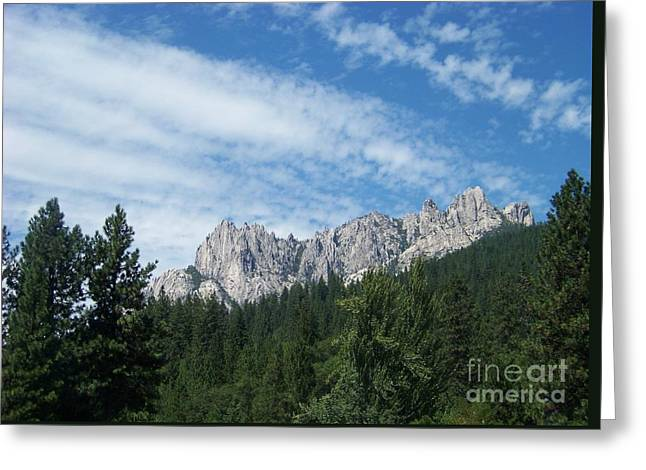 Castle Crags Greeting Card by Charles Robinson