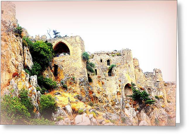 Sweating Greeting Cards - Castle D    Greeting Card by Hilde Widerberg