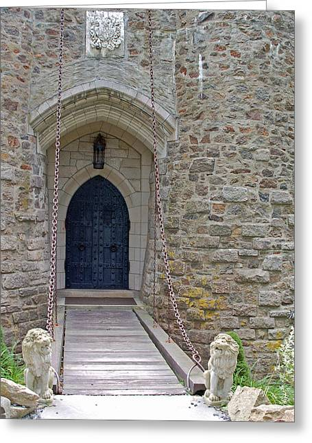 Entrance Door Greeting Cards - Castle Entrance Greeting Card by Suzanne Gaff