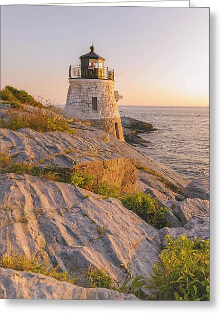New England Ocean Greeting Cards - Castle Hill Lighthouse VII Greeting Card by Marianne Campolongo
