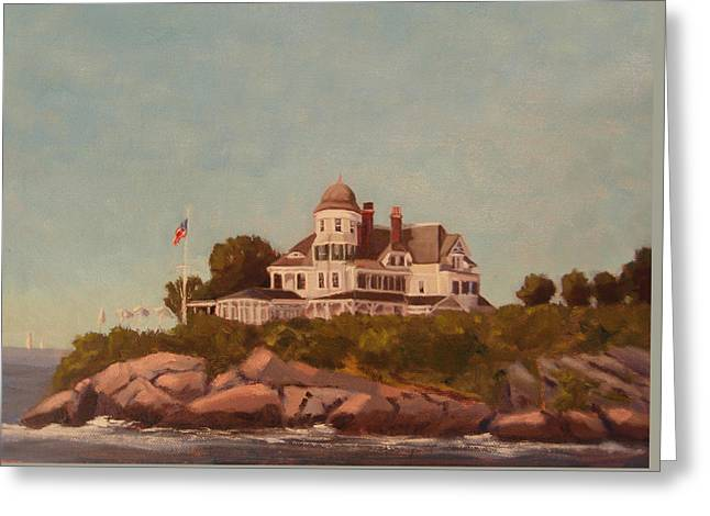 Castle Hill Newport Ri Greeting Card by Betty Ann Morris