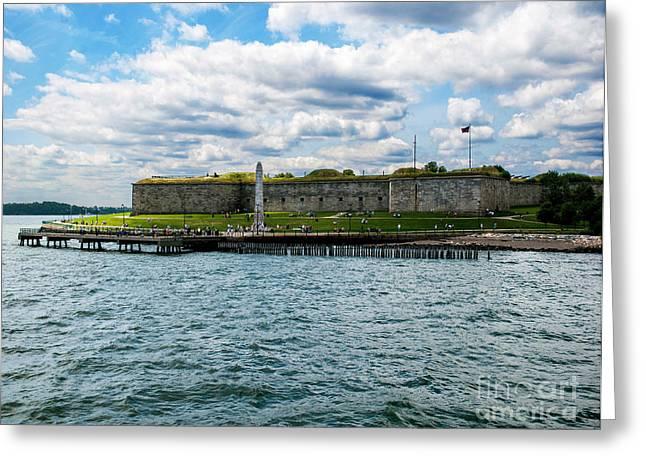 Pentagonal Greeting Cards - Castle Island  Boston MA Greeting Card by Gordon Gaul