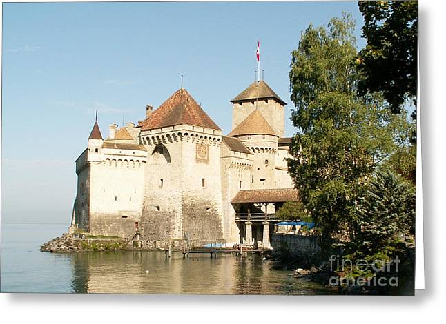 Chillon Greeting Cards - Castle of Chillon Greeting Card by Evgeny Pisarev