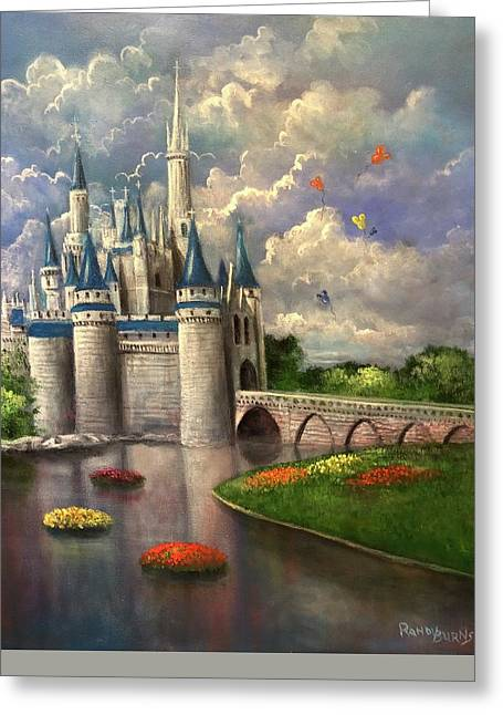 Randy Burns Greeting Cards - Castle of Dreams Greeting Card by Randy Burns
