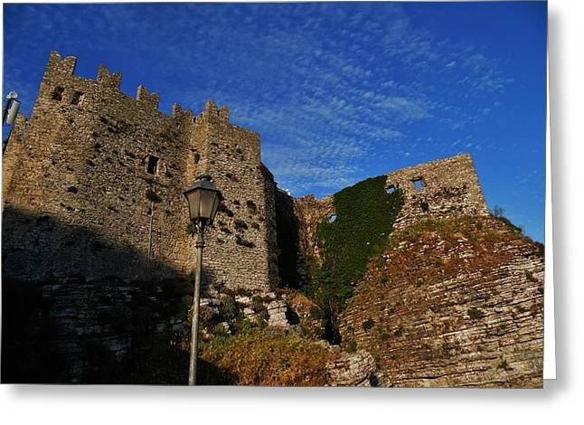 Erice Greeting Cards - Castle of Erice Greeting Card by Beverly Kay