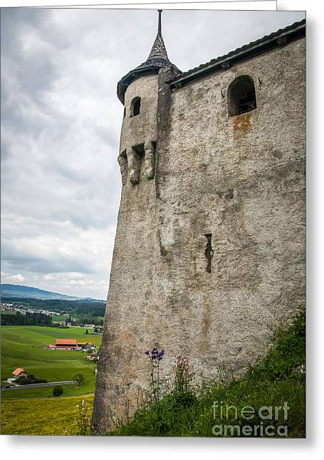 Swiss Landscape Greeting Cards - Castle of Gruyere Greeting Card by Ning Mosberger-Tang