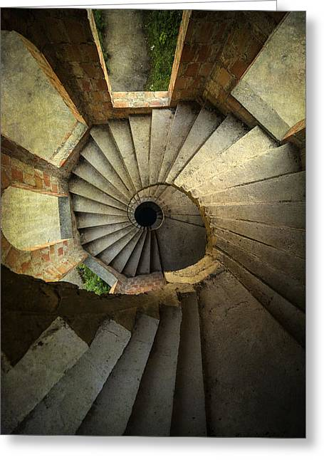 Wooden Stairs Greeting Cards - Castle of unfinished dreams Greeting Card by Jaroslaw Blaminsky
