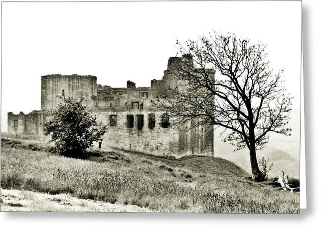 Castle On High Greeting Card by Linde Townsend