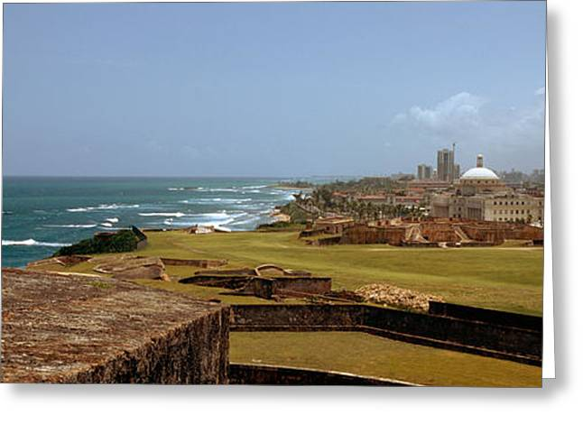 Castle On The Coast, Castillo De San Greeting Card by Panoramic Images