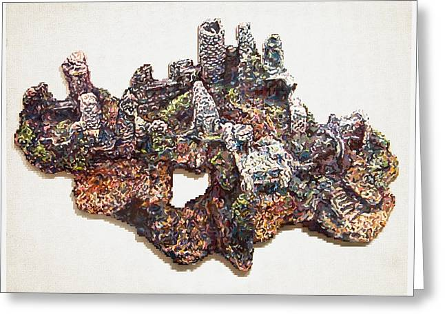Lego Mixed Media Greeting Cards - Castle Ruins Greeting Card by Karl Frey