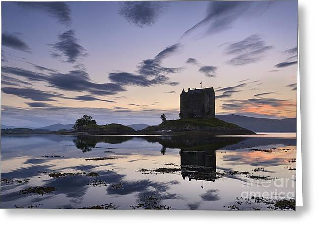 Argyll Greeting Cards - Castle Stalker Greeting Card by Rod McLean
