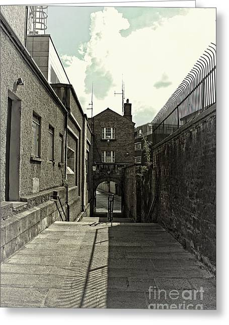 Stepping Stones Greeting Cards - Castle Steps - Dublin Greeting Card by Michael Braham