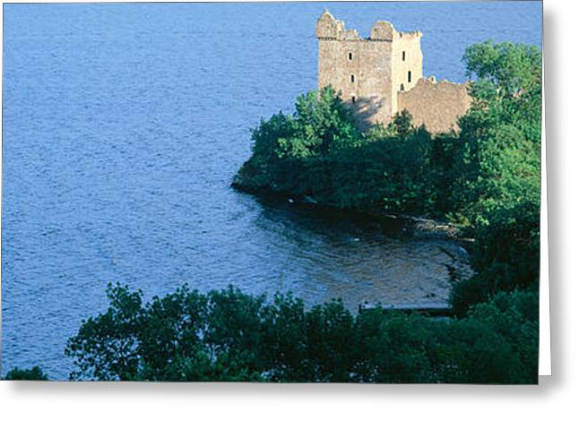 Tree Lines Greeting Cards - Castle Urquhart, Loch Ness, Scotland Greeting Card by Panoramic Images