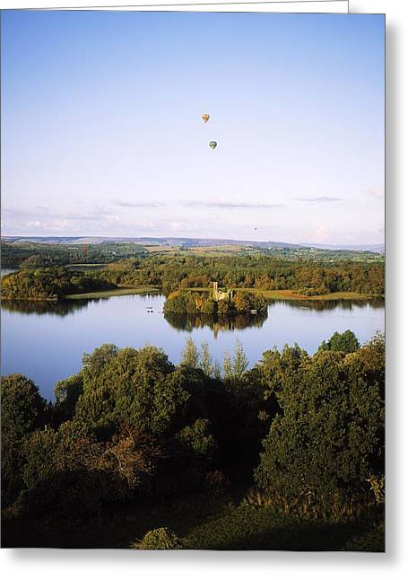 Recently Sold -  - Reflections Of Sky In Water Greeting Cards - Castleisland Lough Key Forest Park Greeting Card by The Irish Image Collection