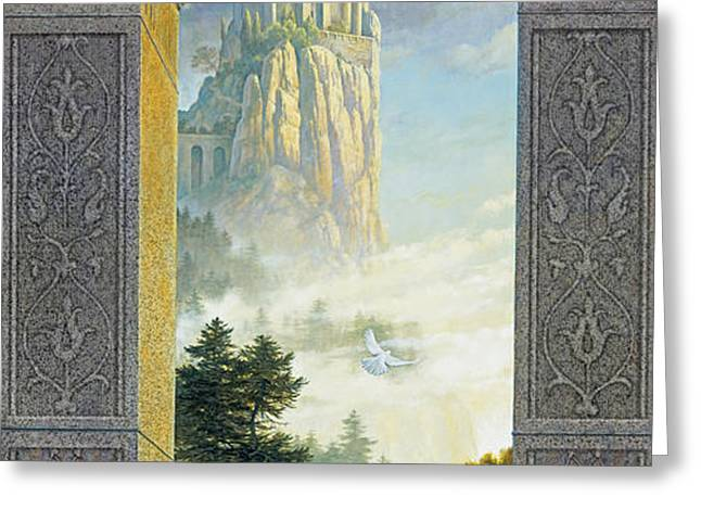 Castles in the Sky Greeting Card by Greg Olsen
