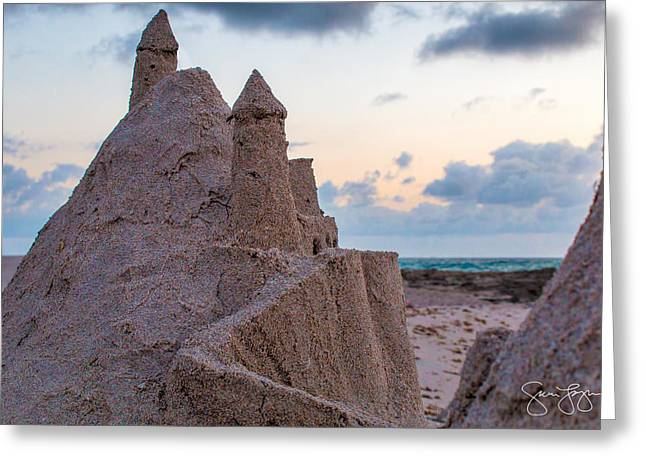 Sand Castles Greeting Cards - Castles made of sand Greeting Card by Sam Logan