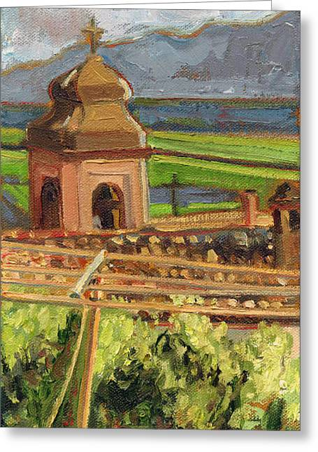 Castrocielo Bell Tower Greeting Card by Jennie Traill Schaeffer