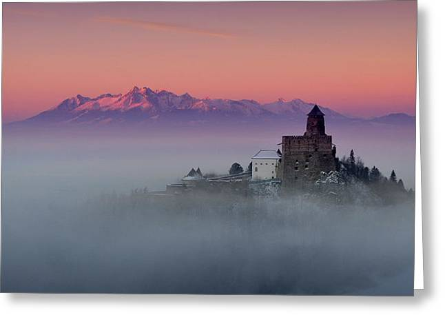Castle Photographs Greeting Cards - Castrum Liblou Greeting Card by Peter Mlynarcik