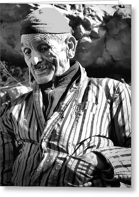 Berber Man Greeting Cards - Casual Berber Greeting Card by David Resnikoff
