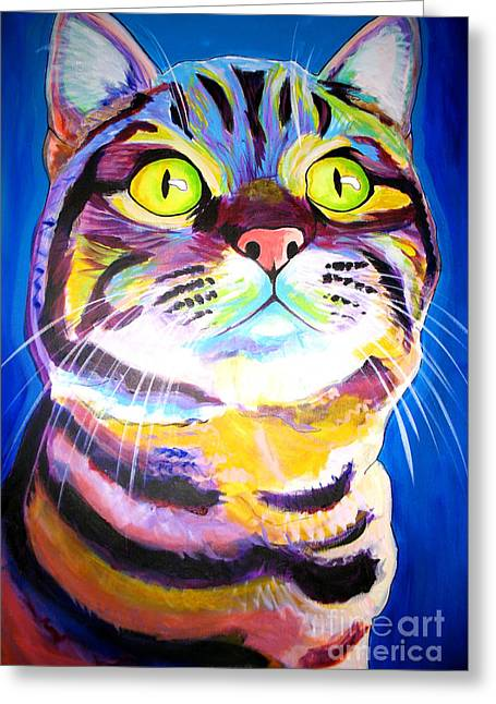 Cute Kitten Paintings Greeting Cards - Cat - Akiko Greeting Card by Alicia VanNoy Call