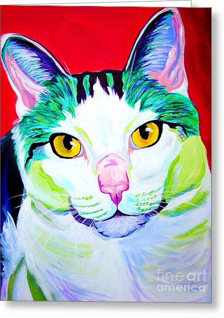 Alicia Vannoy Call Paintings Greeting Cards - Cat - Zooey Greeting Card by Alicia VanNoy Call