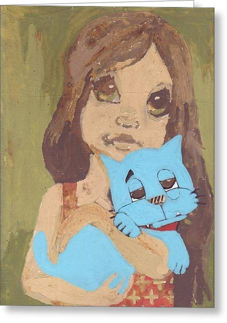 Cat 1 Greeting Card by William Douglas