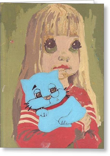 Cat 2 Greeting Card by William Douglas