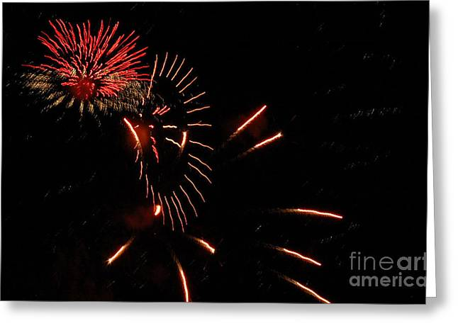 4th July Photographs Greeting Cards - Cat Burst Greeting Card by Norman  Andrus