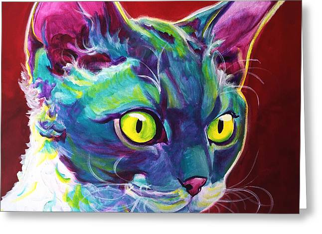 Cat - Devon Rex Greeting Card by Alicia VanNoy Call