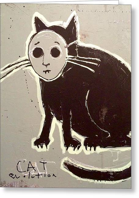 Cat Evolution Greeting Card by H James Hoff