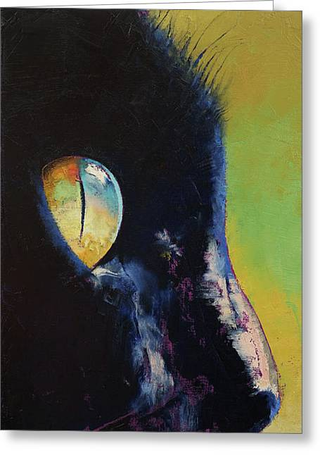 Cat Eye Greeting Card by Michael Creese