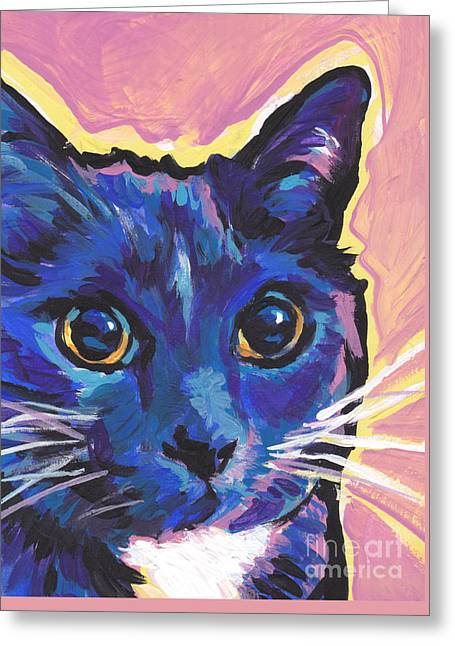 Modern Russian Art Greeting Cards - Cat Eyes Greeting Card by Lea