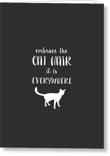 Birman Greeting Cards - Cat Hair Greeting Card by Nancy Ingersoll
