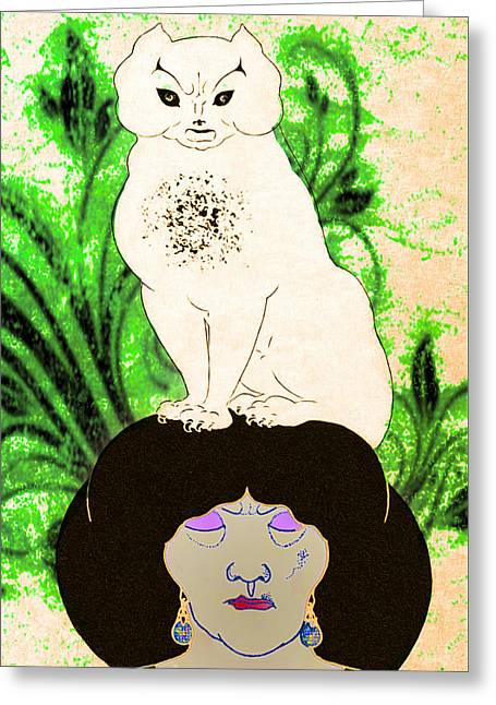 Cat Hat Greeting Card by Bill Cannon